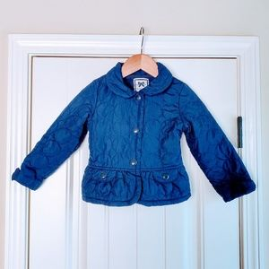 Gymboree Navy Blue Quilted Coat/Jacket